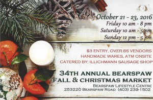 Bearspaw 34 th Annual Fall Market