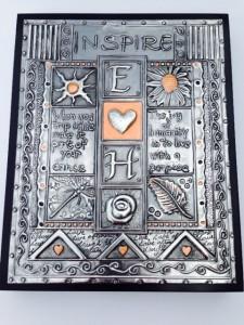 Introduction to Metal Embossing Pewter Plaque Elitia Hart Metal Art www.pewterart.ca