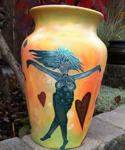 Stencil Vase 1