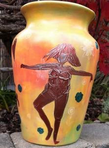 Stencil Vase 3
