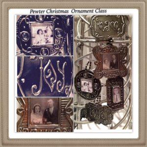 christmas ornament class www.pewterart.ca