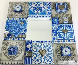 mirror mosaic polymer and pewter